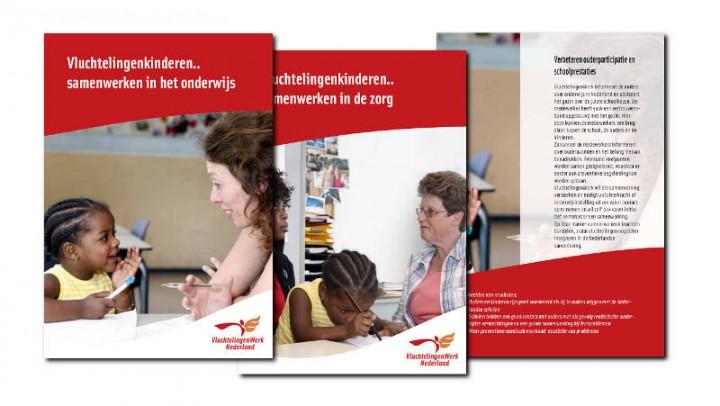 Folder ontwerp en tekst Vluchtelingenwerk Midden-Nederland