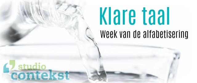 Taal, Week van Alfabetisering, Studio Contekst